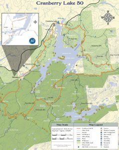 Cranberry Lake 50 trail map